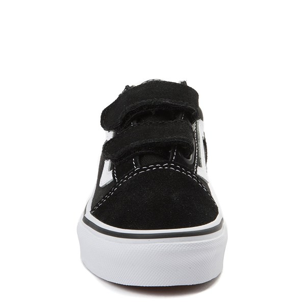 alternate view Vans Old Skool V Skate Shoe - Little Kid - Black / WhiteALT4