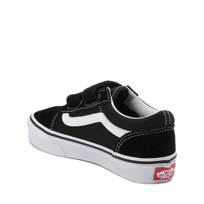Alternate view of Vans Old Skool V Skate Shoe - Little Kid - Black