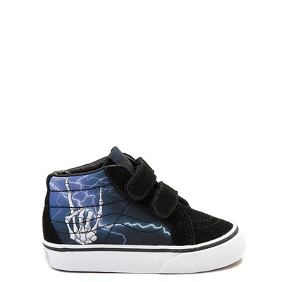 Main view of Toddler Vans Sk8 Mid V Rocker Bones Skate Shoe
