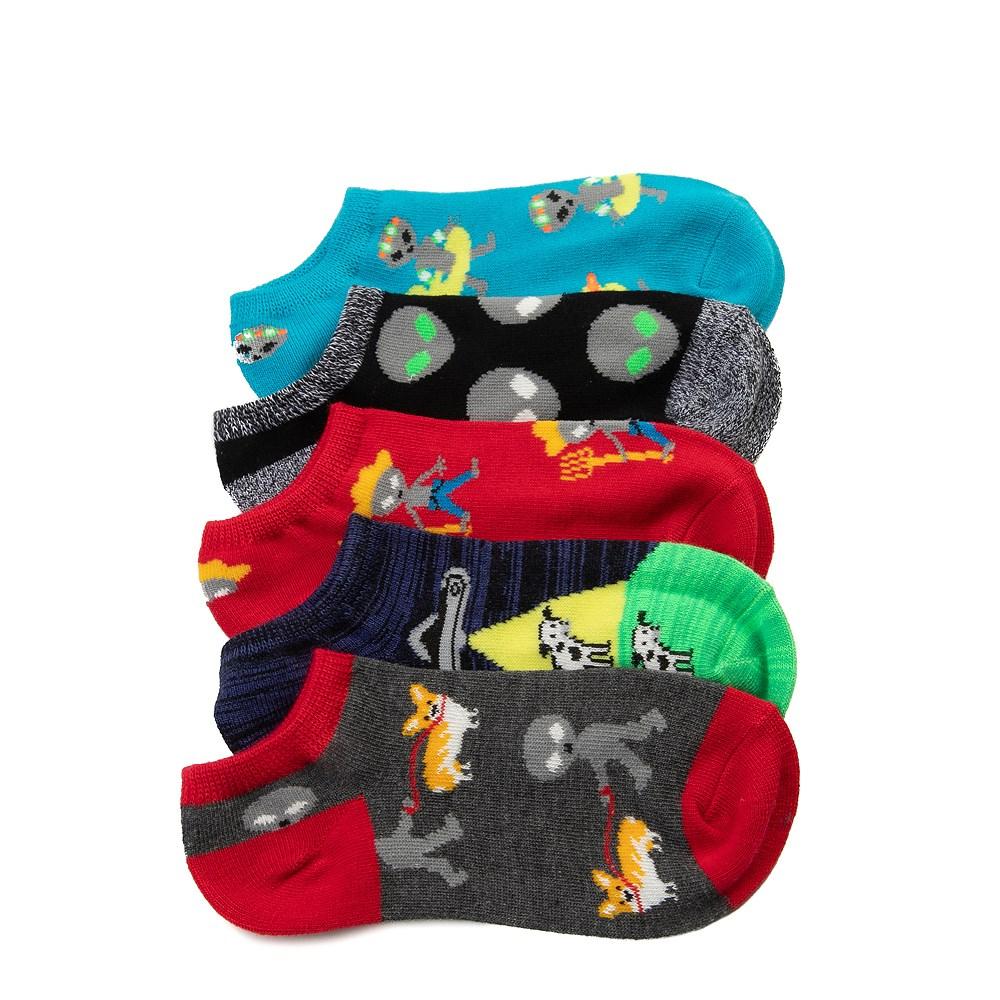 Youth Alien Glow Socks 5 Pack