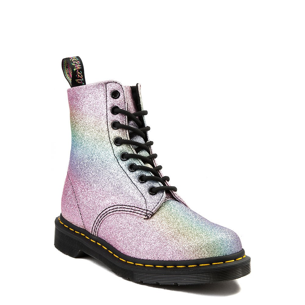 b926e6a4f alternate view Womens Dr. Martens Pascal 8-Eye Glitter BootALT1