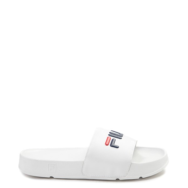 Main view of Mens Fila Drifter Slide Sandal - White