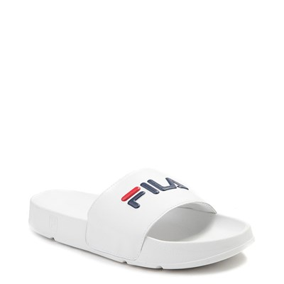Alternate view of Mens Fila Drifter Slide Sandal - White