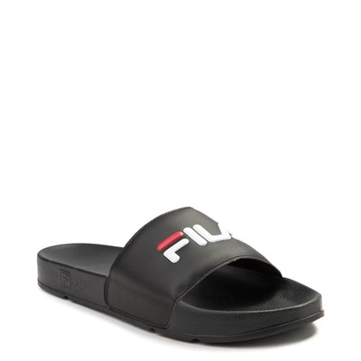 Alternate view of Womens Fila Drifter Slide Sandal - Black