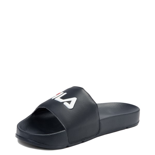 alternate view Womens Fila Drifter Slide Sandal - Navy / Red / WhiteALT2