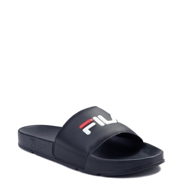 alternate view Womens Fila Drifter Slide Sandal - Navy / Red / WhiteALT5