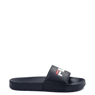 Main view of Womens Fila Drifter Slide Sandal - Navy / Red / White
