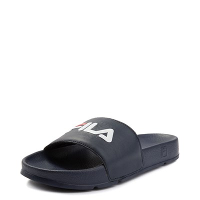 Alternate view of Womens Fila Drifter Slide Sandal - Navy / Red / White