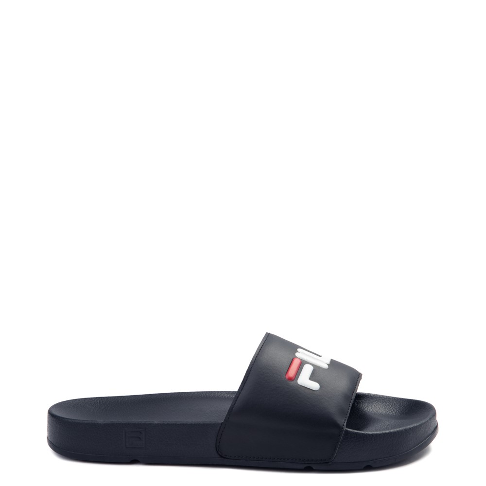Womens Fila Drifter Slide Sandal - Navy / Red / White