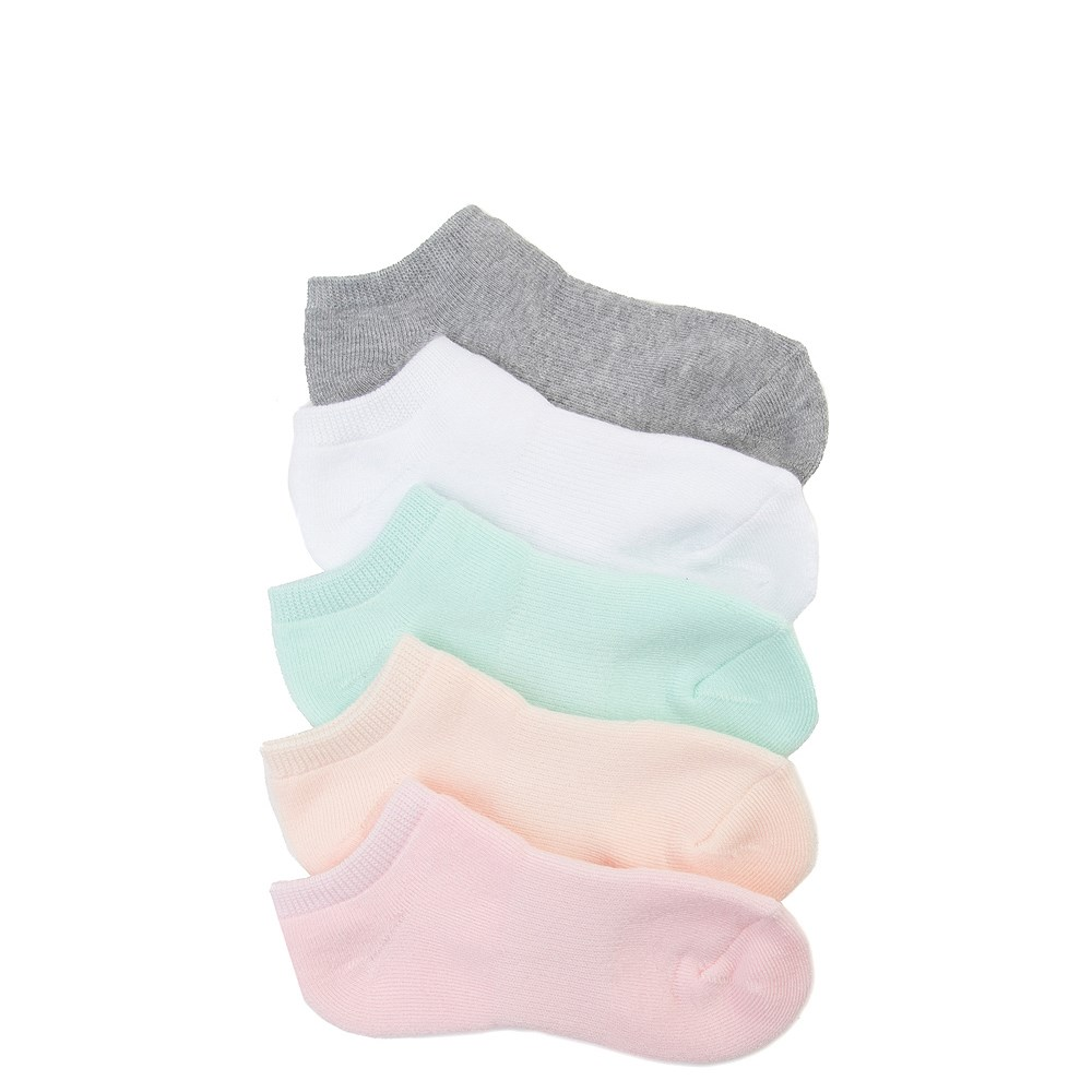 Cushioned Pastel Footies 5 Pack - Girls Little Kid