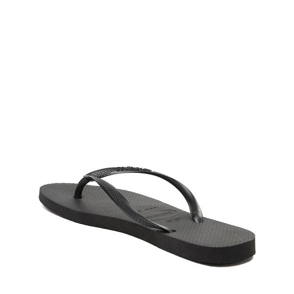 alternate view Womens Havaianas Slim Sandal - BlackALT1B