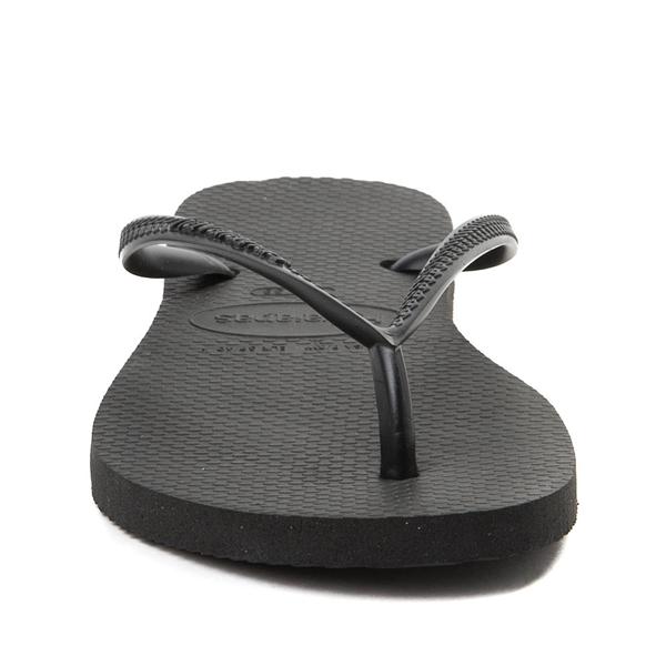 alternate view Womens Havaianas Slim Sandal - BlackALT4