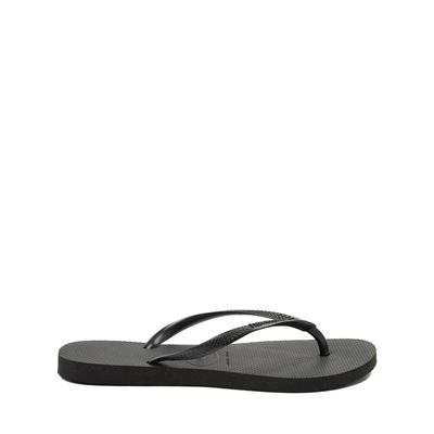 Alternate view of Womens Havaianas Slim Sandal - Black