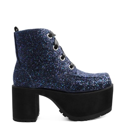 Main view of Womens T.U.K. Nosebleed Glitter Platform Boot