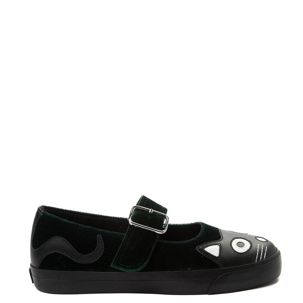 Womens T.U.K. Kitty Mary Jane Velvet Casual Shoe