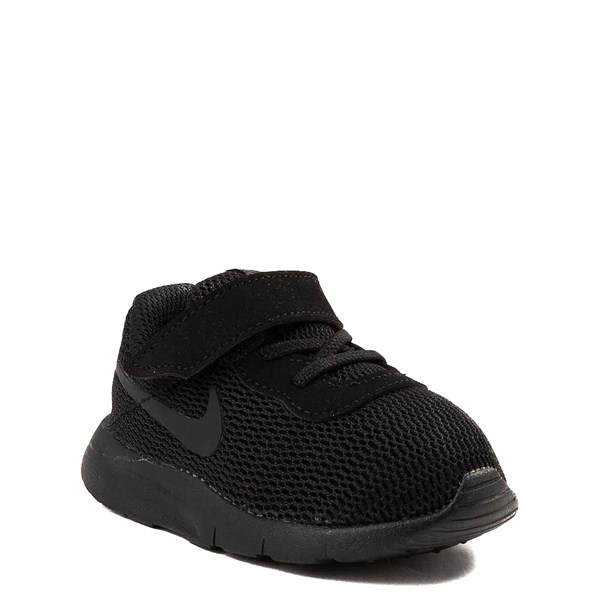 alternate view Nike Tanjun Athletic Shoe - Baby / Toddler - Black MonochromeALT1