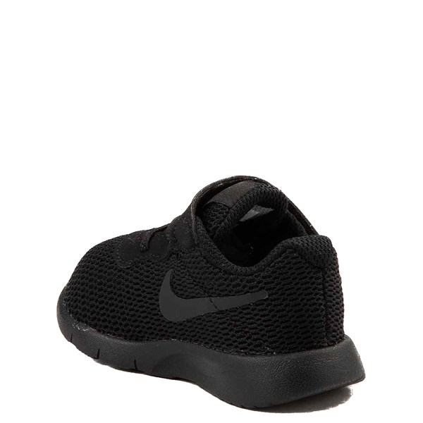 alternate view Nike Tanjun Athletic Shoe - Baby / Toddler - Black MonochromeALT2