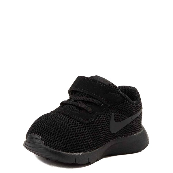 alternate view Nike Tanjun Athletic Shoe - Baby / Toddler - Black MonochromeALT3