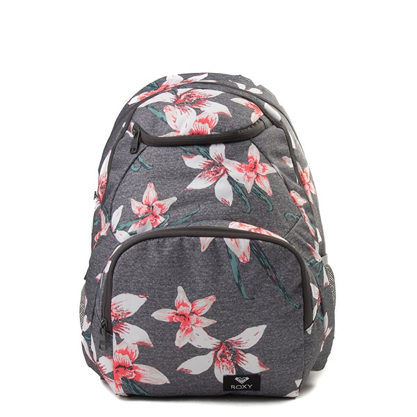 Main view of Womens Roxy Shadow Swell Backpack - Heather Gray / Floral