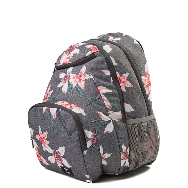 alternate view Womens Roxy Shadow Swell Backpack - Heather Gray / FloralALT1