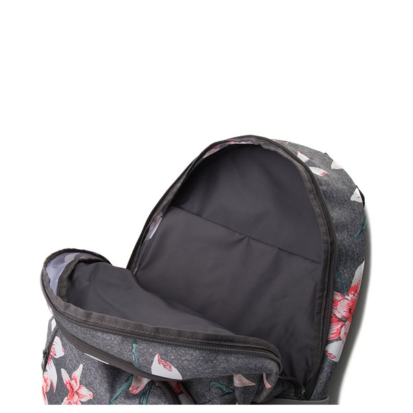 alternate view Womens Roxy Shadow Swell Backpack - Heather Gray / FloralALT3