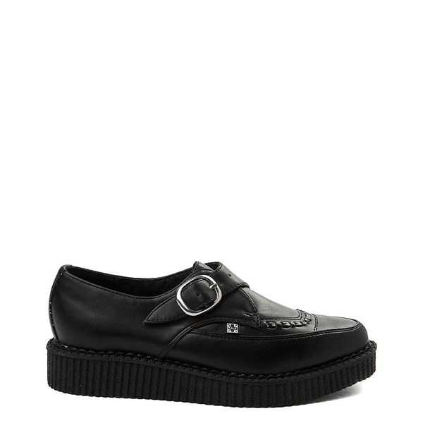 T.U.K. Pointed Toe Buckle Low Sole Creeper Casual Shoe - Black