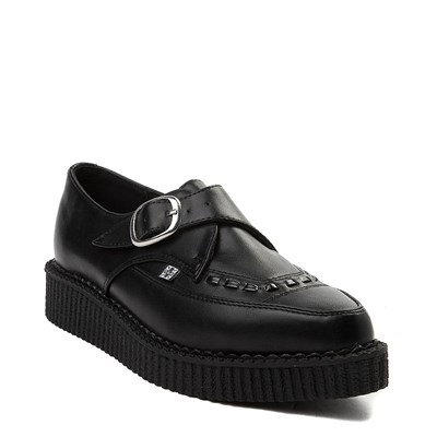 Alternate view of T.U.K. Pointed Toe Buckle Low Sole Creeper Casual Shoe - Black