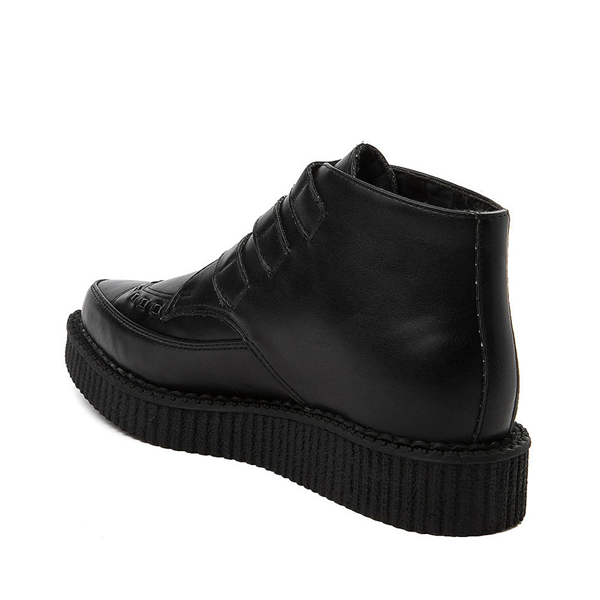alternate view T.U.K. Pointed Toe 3-Buckle Low Sole Creeper Boot - BlackALT1