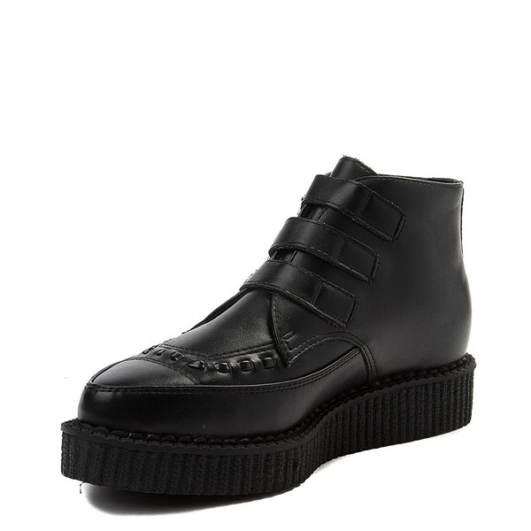 alternate view T.U.K. Pointed Toe 3-Buckle Low Sole Creeper BootALT3