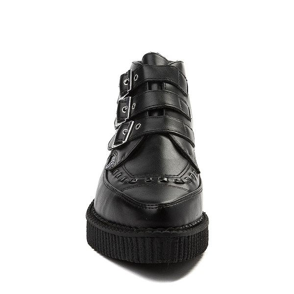 alternate view T.U.K. Pointed Toe 3-Buckle Low Sole Creeper BootALT4
