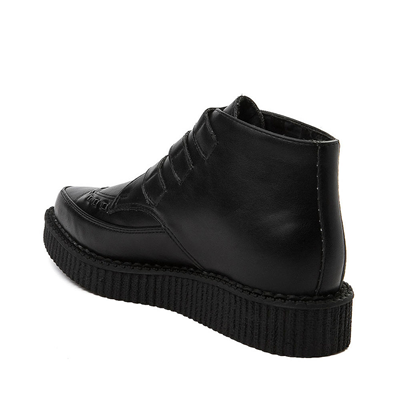 Alternate view of T.U.K. Pointed Toe 3-Buckle Low Sole Creeper Boot - Black