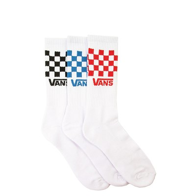 Main view of Mens Vans Checkered Crew Socks 3 Pack