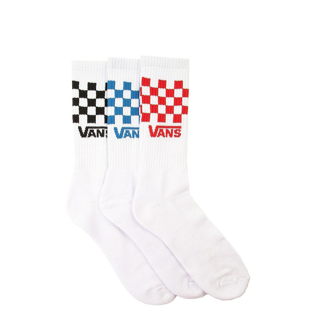 Mens Vans Checkered Crew Socks 3 Pack