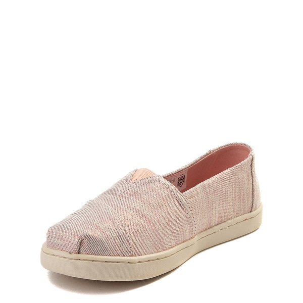 alternate view TOMS Classic Glimmer Slip On Casual Shoe - Little Kid / Big KidALT3