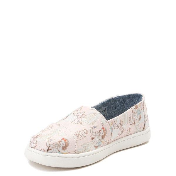 alternate view TOMS Disney Princess Classic Slip On Casual Shoe - Little Kid / Big KidALT3