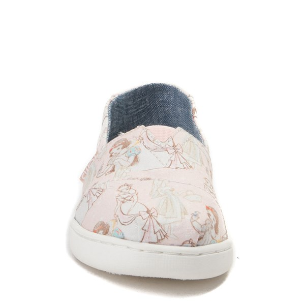 alternate view TOMS Disney Princess Classic Slip On Casual Shoe - Little Kid / Big KidALT4