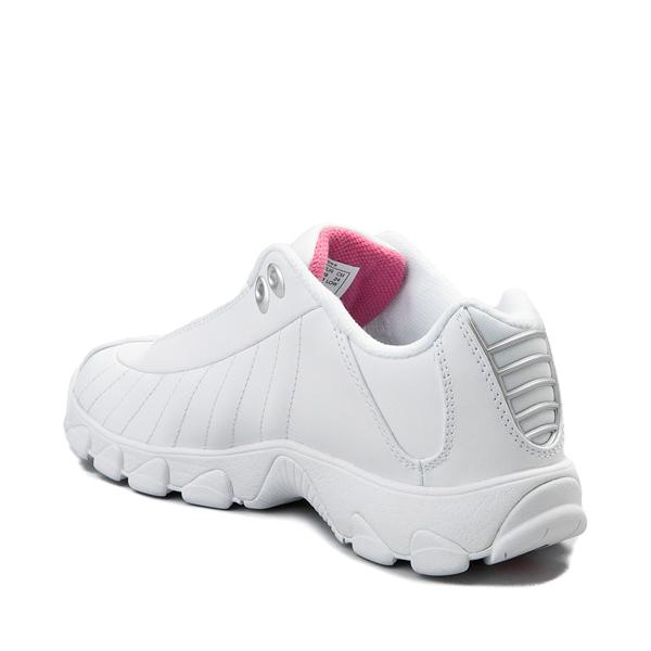 alternate view Womens K-Swiss ST-329 Low Athletic Shoe - White / PinkALT1