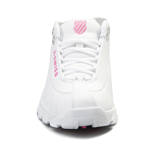 alternate view Womens K-Swiss ST-329 Low Athletic Shoe - White / PinkALT4