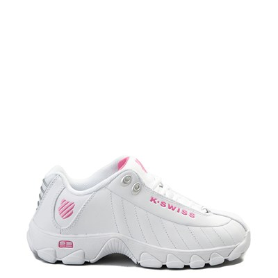 Main view of Womens K-Swiss ST-329 Low Athletic Shoe - White / Pink