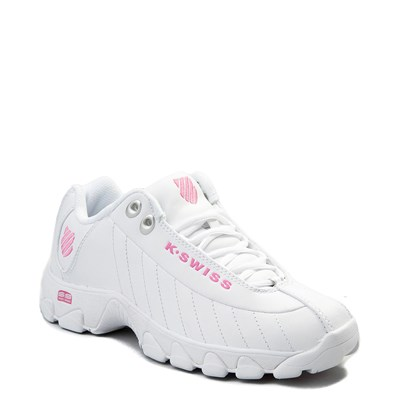 Alternate view of Womens K-Swiss ST-329 Low Athletic Shoe - White / Pink