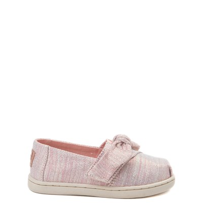 Toddler/Youth TOMS Classic Glimmer Bow Slip On Casual Shoe