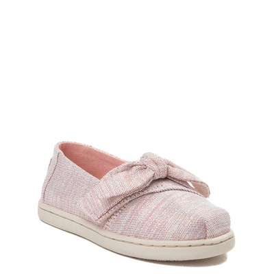 Alternate view of Toddler/Youth TOMS Classic Glimmer Bow Slip On Casual Shoe