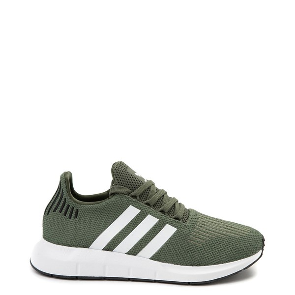 Womens adidas Swift Run Athletic Shoe - Olive / White / Black