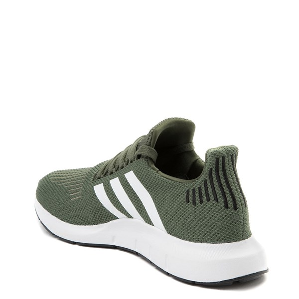 alternate view Womens adidas Swift Run Athletic Shoe - Olive / White / BlackALT2