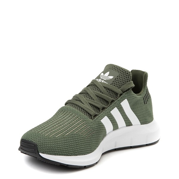 alternate view Womens adidas Swift Run Athletic Shoe - Olive / White / BlackALT3