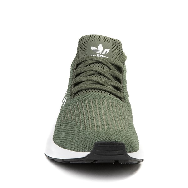 alternate view Womens adidas Swift Run Athletic Shoe - Olive / White / BlackALT4
