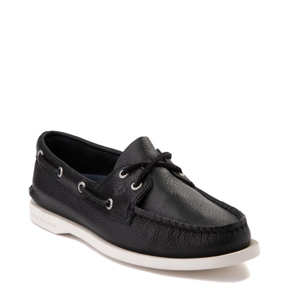 alternate view Womens Sperry Top-Sider Authentic Original Boat Shoe - BlackALT5