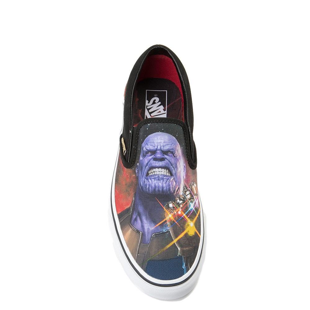 5298b46b26d5 Vans Slip On Marvel Avengers Thanos Skate Shoe