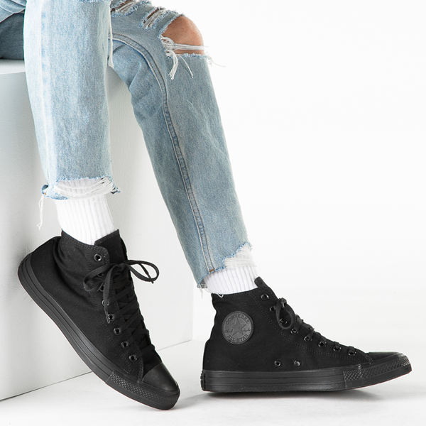 alternate view Converse Chuck Taylor All Star Hi Sneaker - Black MonochromeB-LIFESTYLE1