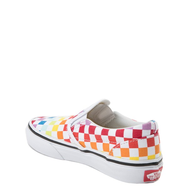 alternate view Vans Slip On Rainbow Checkerboard Skate Shoe - Little Kid / Big Kid - MultiALT2